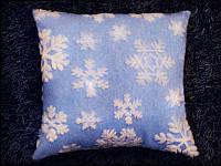 Новогодняя светящаяся подушка «Снежинка»