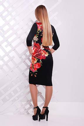Платье Лоя-3Ф д/р GLEM Розы, фото 2