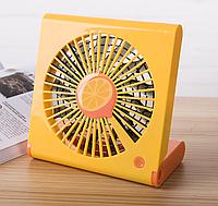 Портативный USB вентилятор аккумуляторный, оранжевый