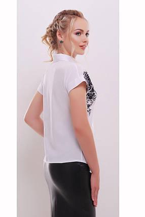 Блуза женская на короткий рукав с принтом, фото 2