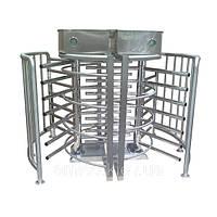 Турникет электромеханический двухпроходный CYCLONE TWIN, шлифованная н/ж сталь, угол между поводками 120 град, фото 1