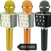 Беспроводной Караоке Микрофон с динамиком 5 ТЕМБРОВ ГОЛОСА WS-1688 USB AUX FM ХИТ!