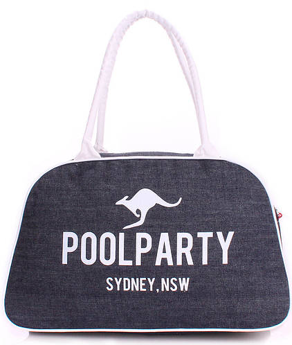 Женская джинсовая спортивно-повседневная сумка POOLPARTY Арт. pool-16-jeans