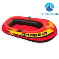 Полутораместная надувная лодка Intex 58330 Explorer 200, 185 х 94 х 41 см