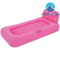 Детская надувная кровать с проэктором Bestway 67496, розовая, 132 х 76 х 46 см