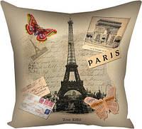 Подушка Париж оригинальный подарок на день рождения