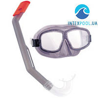 Набор для плавания Bestway 24016,  серый, маска и трубка, от 7-14 лет