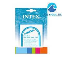 Ремкомплект Intex 59631 для каркасных, надувных бассейнов. Самоклейки 6 шт (7х7 см)