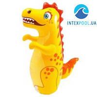 Детская надувная игрушка - неваляшка Intex 44669 «Динозавр», 94 х 61 см