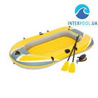 Полутораместная надувная лодка Bestway 61083 Hydro - Force Raft, желтая, 228 х 121 см