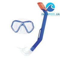Набор 2 в 1 для плавания Bestway 24023 (маска и трубка), синий, от 3 лет
