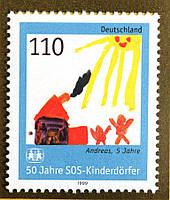 Германия Детская марка 1999 г.