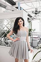 """Нежное коктейльное платье """"Анжелика"""" с кружевом и фатиновым подъюбником (3 цвета), фото 2"""