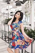 """Летнее платье штапель в цветочек """"Summer"""" с карманами и расклешенной юбкой (2 цвета), фото 3"""