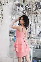 """Летнее коктейльное платье """"RAHEL"""" с воланами на юбке (3 цвета), фото 2"""