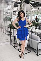 """Летнее коктейльное платье """"RAHEL"""" с воланами на юбке (3 цвета), фото 3"""