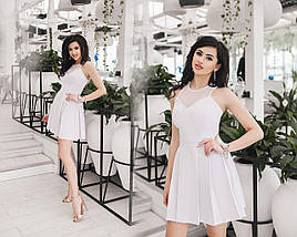 "Летнее платье без рукавов ""Bardot"" со складками на юбке (2 цвета), фото 3"