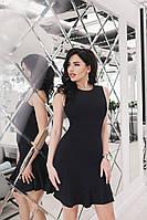 """Легкое летнее платье """"Victoria Beckham"""" с воланами на юбке (2 цвета)"""