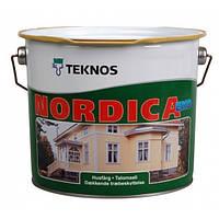 Краска для деревянных фасадов Текнос Нордика Эко, 9л, Б1
