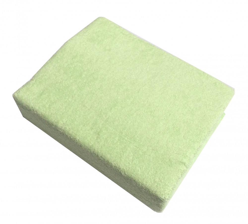 Простынь махровая на резинке lime TWINS