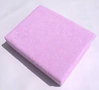 Простынь махровая на резинке Pink TWINS