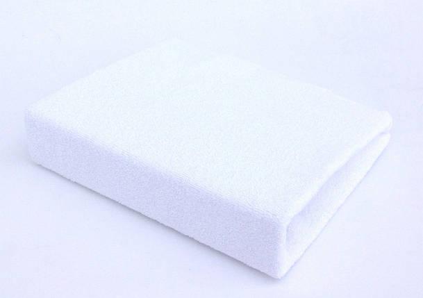 Простынь махровая на резинке White TWINS , фото 2