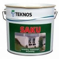 Фасадная краска по бетону Текнос Саку (Teknos Saku),  2,7л, Б3