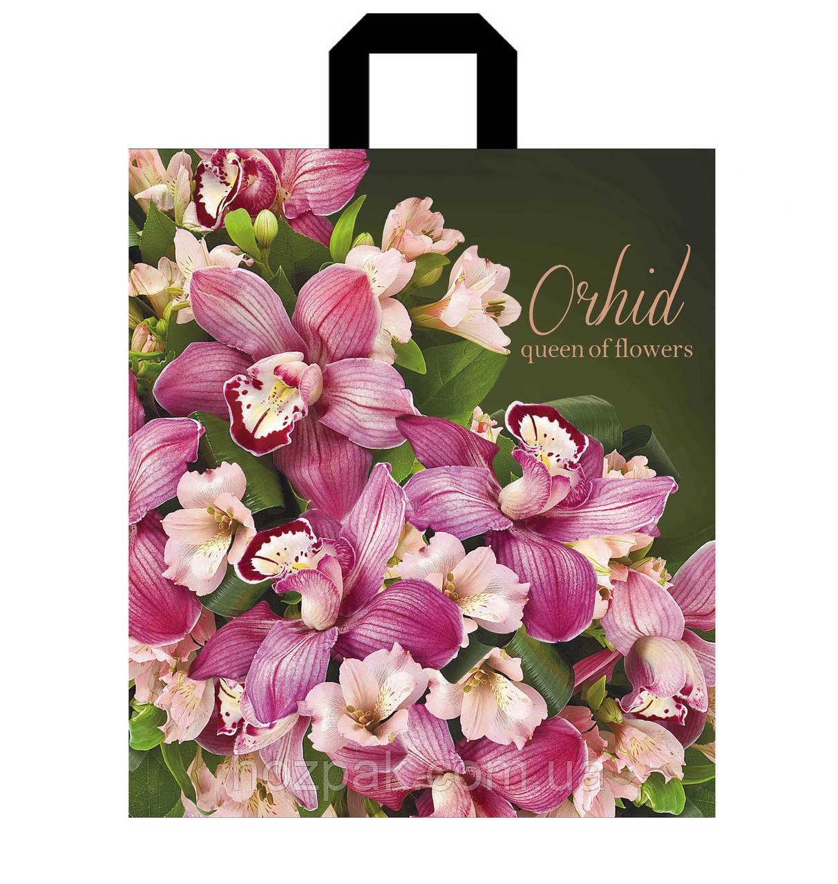 """Пакет с петлевой ручкой 40х43см 25шт. """"Орхидея"""""""
