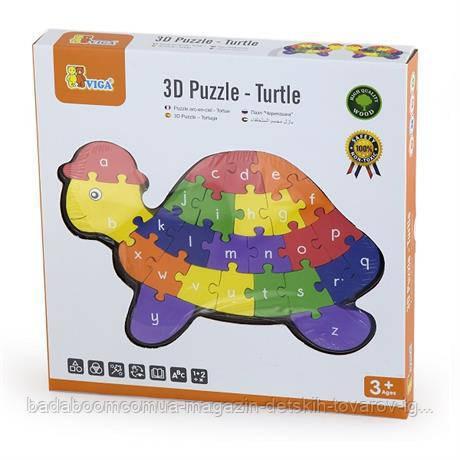 """Пазл Viga Toys """"Черепаха"""" (55250VG)"""