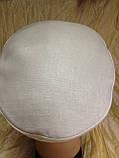 Женская льняная кепка - картуз цвет белый, фото 3