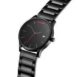 Мужские наручные часы MVMT The 40 Series - Black, черные наручные часы, часы милитари