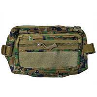 Тактическая сумка на пояс N02222 Pixel Green
