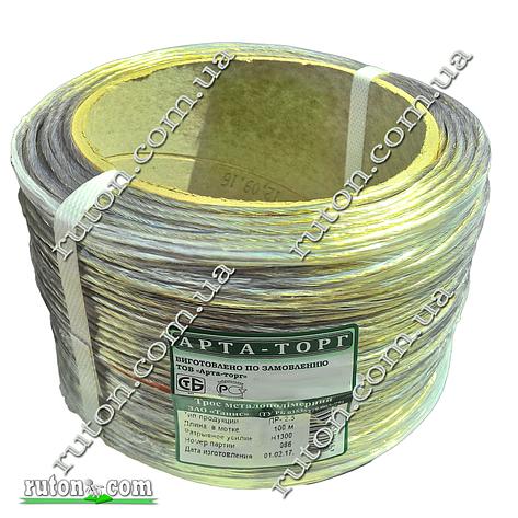 Трос металлополимерный в оболочке ПВХ ПР 4.0 мм 100м Белорусский, фото 2