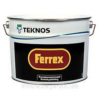 Антикоррозийная краска-грунт по ржавчине и оцинковке Текнос Феррекс, 3л, белая