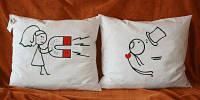 """Парные подушки """"Love"""""""
