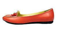 Женские кожаные балетки WRIGHT караллового цвета, фото 1