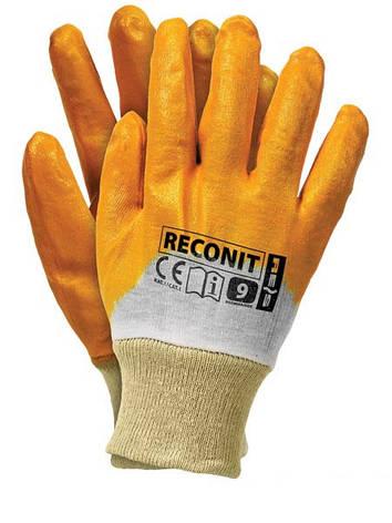 """Перчатки рабочие нитрил жёлтый """"Reconit"""" (REIS), фото 2"""