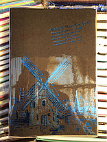 Блокнот А5 с чёрными листами в линию на 100 литов, фото 3