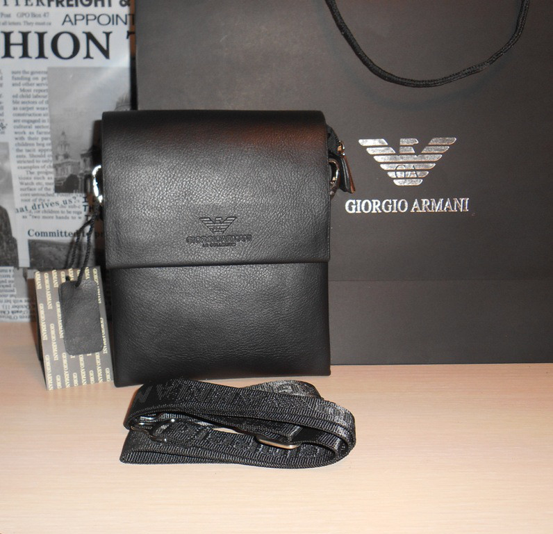 Сумка мужская Armani, кожа, Италия код 8022-7 - DONINI boutique в Запорожье c54c8d33fd2