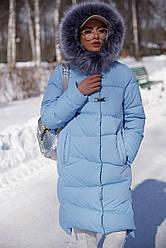 Зимнее женское пальто Бекки с мехом  Нью Вери (Nui Very)