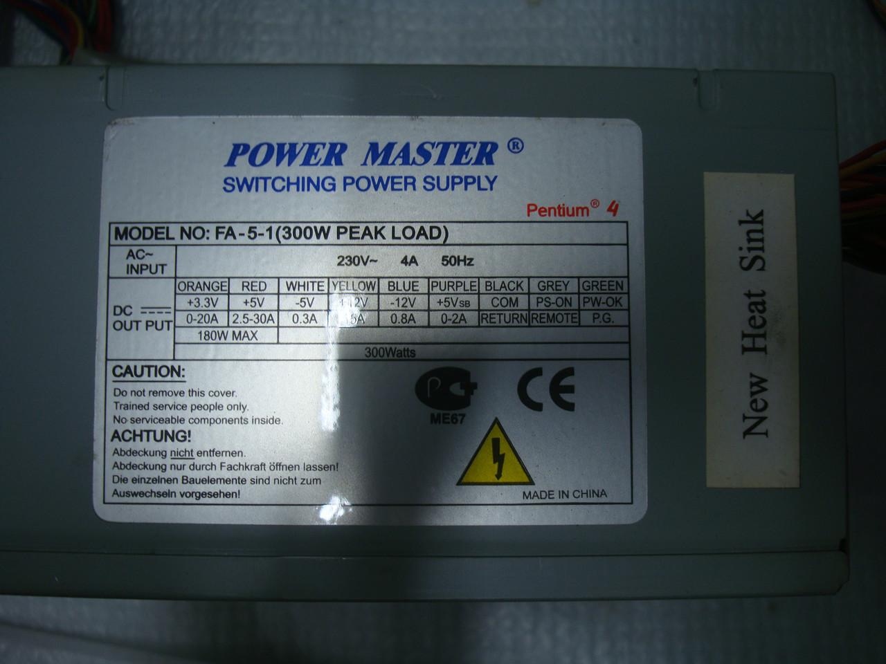 Блок питания POWER MASTER 300W