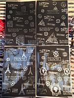Блокнот А5 с чёрными листами в линию 100 листов