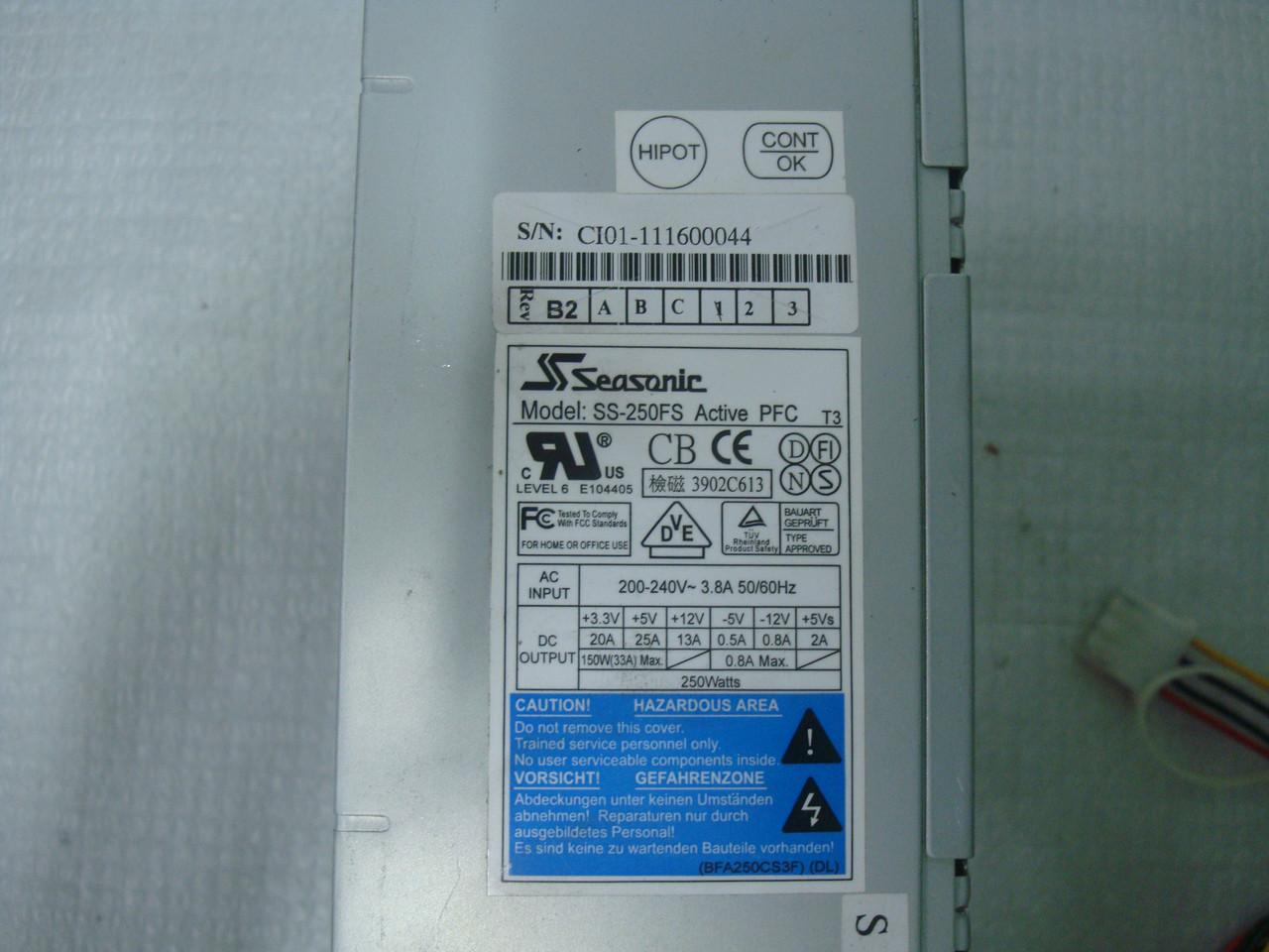 Блок питания Seasonic SS-250FS 250W