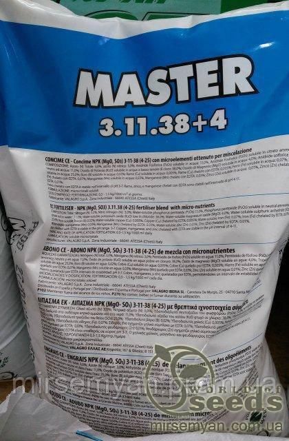 Купить МАСТЕР NPK 3.11.38+4 / MASTER NPK 3.11.38+4, Valagro 25 кг