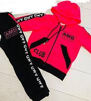 Спортивный костюм детский для девочек 3-8лет,малинового цвета