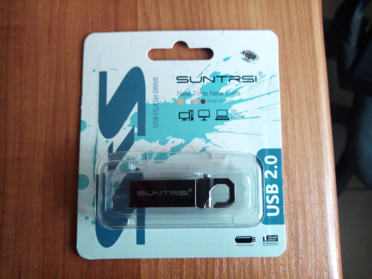 SUNTRSI USB 2.0 металлический флэш-накопитель 16 ГБ памяти