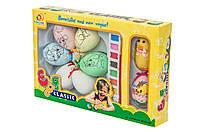 Детский пасхальный набор - 6 яиц, краски, кисточка, цыпленок