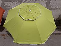Пляжный зонт 2.0 м клапан и наклон. Плотная ткань. Тканевый чехол. Зонтик для пляжа от солнца Оливковый