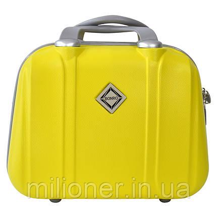 Сумка кейс саквояж Bonro Smile (небольшой) желтый (yellow 613), фото 2