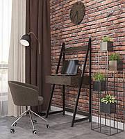 """Письменный стол в стиле лофт """"ДУО"""" М-Дизайн Черный бархат, Бук мексиканский"""